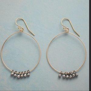 Floating Beads Hoop Earrings by Sundance